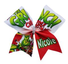 How the Grinch Stole Christmas Personalized Cheer Bow