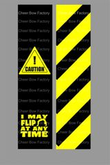Caution Cheer Bow Ready to Press Sublimation Graphic