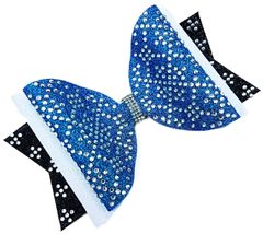 The Meghan Rhinestone Dolly Tailless Cheer Bow - all colors available