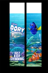 Finding Dory Just Keep Swimming Cheer Bow Ready to Press Sublimation Graphic