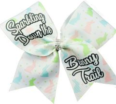 Sparkling Down the Bunny Trail Cheer Bow