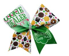 Cookie Dealer Personalized Troop # Girl Scout Cheer Bow