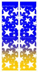 Stars Ombre Royal Athletic Gold Cheer Bow Ready to Press Sublimation Graphic