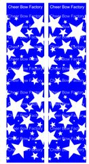 Stars Royal Cheer Bow Ready to Press Sublimation Graphic