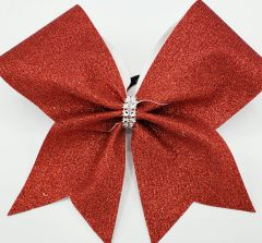Red Glitter Cheer Bow