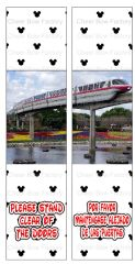 Disney Monorail Ready to Press Sublimation Graphic