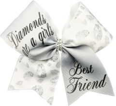 Diamonds Are A Girls Best Friend Cheer Bow