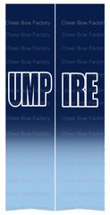 Umpire Softball Cheer Bow Ready to Press Sublimation Graphic