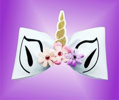 Unicorn Tailless Glitter Cheer Bow