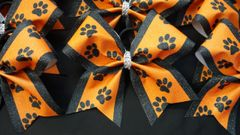 Paw Print Cheer Bow