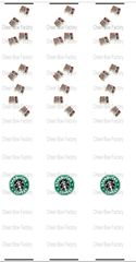 Starbucks Keychain Sublimation Cheer Bow Graphic