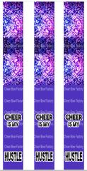 Cheer is my Hustle Keychain Sublimation Cheer Bow Graphic
