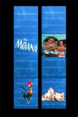 Moana Cheer Bow Ready to Press Sublimation Graphic