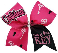 Confidence is Key Cheer Bow