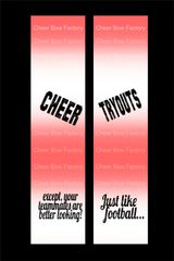 Cheer Tryouts Cheer Bow Ready to Press Sublimation Graphic