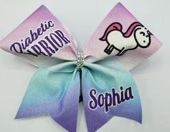 Diabetic Warrior Sophia Cheer Bow
