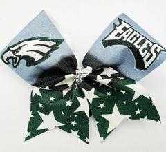 Eagles Glitter Vinyl Cheer Bow
