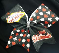 Las Vegas Nationals Glitter Cheer Bow
