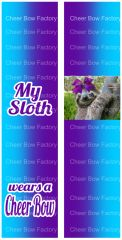 My Sloth Wears a Cheerbow Sublimation Cheer Bow Graphic