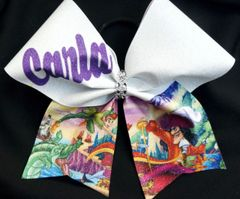 Peter Pan & Captain Hook Cheer Bow