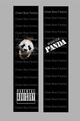 Designer Panda Cheer Bow Ready to Press Sublimation Graphic