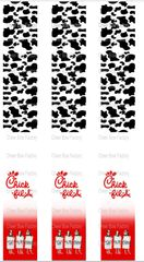 Chick-fil-A Keychain Sublimation Cheer Bow Graphic