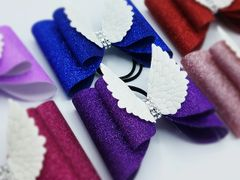 Angel Wings Glitter Double Tailless Cheer Bow