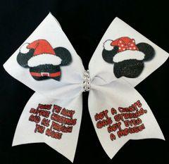 Mickey Minnie Night Before Christmas Cheer Bow