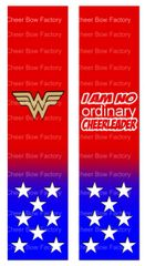 Wonder Woman I am no ordinary cheerleader Ready to Press Sublimation Graphic