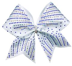 The Tilly Royal & AB Rhinestone Cheer Bow