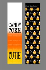 Candy Corn Cutie Cheer Bow Ready to Press Sublimation Graphic