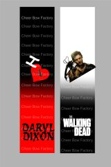 Daryl Dixon Walking Dead Cheer Bow Ready to Press Sublimation Graphic