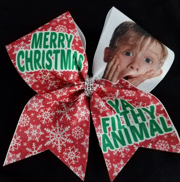 home alone merry christmas cheer bow