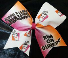 Cheerleaders Run On Dunkin Cheer Bow