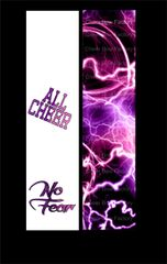 All Cheer No Fear Cheer Bow Ready to Press Sublimation Graphic
