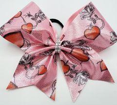 Valentine Fabric Cheer Bow