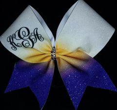 kGa Monogram Cheer Bow