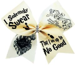 I Do Solemnly Swear Harry Potter Cheer Bow
