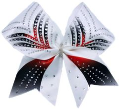 The Kendall Satin & Rhinestone Cheer Bow