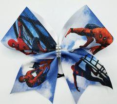 Spiderman Glitter Vinyl Cheer Bow