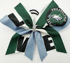 LOVE Eagles Glitter Vinyl Cheer Bow