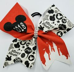 2018 Mickey Mouse Glitter Vinyl Cheer Bow