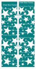 Stars Teal Cheer Bow Ready to Press Sublimation Graphic