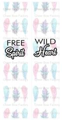 Free Spirit Wild Heart Sublimation Cheer Bow Graphic
