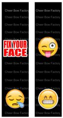Fix Your Face Emoji Ready to Press Sublimation Graphic