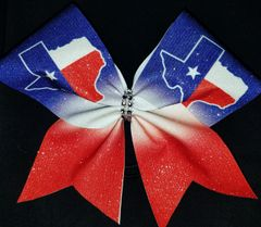 Texas (duplicate image) Cheer Bow