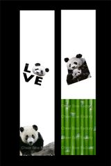 Panda Cheer Bow Ready to Press Sublimation Graphic