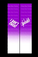 I Don't Sweat I Sparkle Cheer Bow Ready to Press Sublimation Graphic