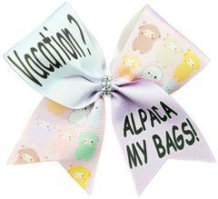 Vacation? Alpaca My Bags! Cheer Bow