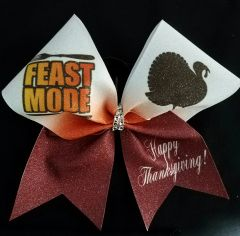 Feast Mode Thanksgiving Cheer Bow